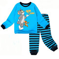 new 2 pcs set baby boy girl kids Cat and mouse sleepwear suits toddler cartoon pajama Children cotton pajamas sets