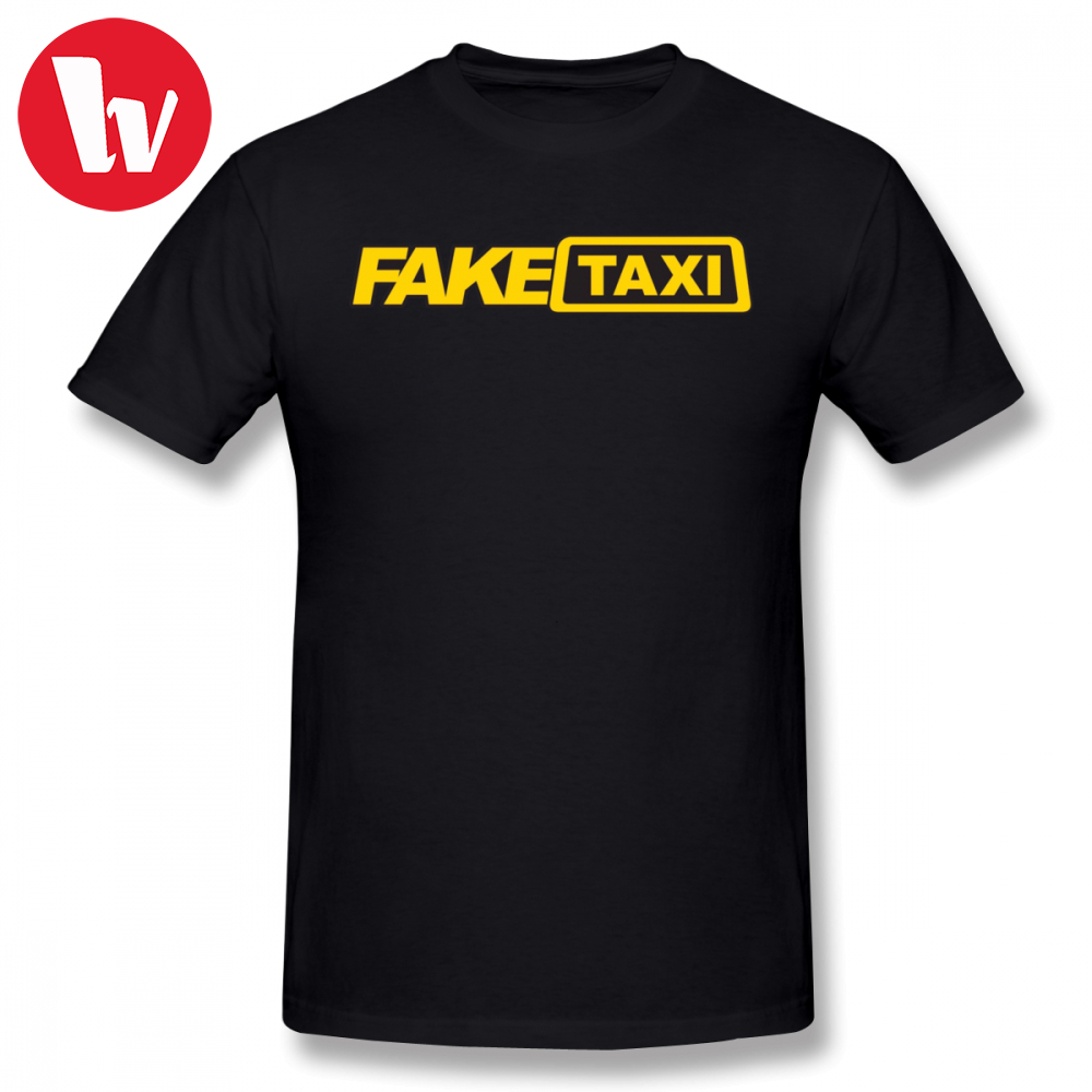 Fake Taxi Tee Shirt Men Letter Print T-Shirt Summer Funny T Shirts Male Short Ssleeve T Shirt Oversized Big Tee Shirts Plus Size
