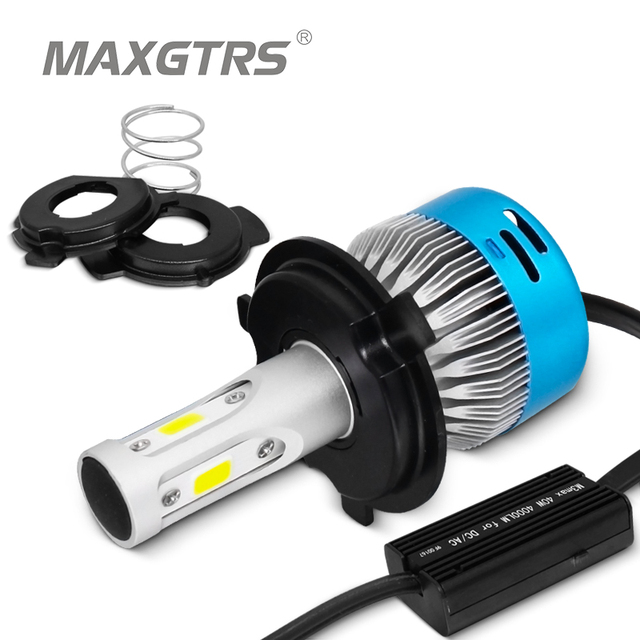 AC 12 v/24 V HS1 LED phare de moto H4 LED ampoule 4000LM moto HS1 lumière 40 W BA20D lampe frontale pour Ktm Exc café Racer Harley