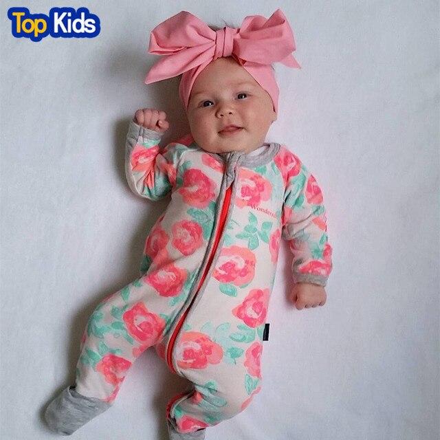c26323d2aed6c Otoño Invierno ropa de bebé recién nacido bebé chica mono ropa de mameluco  infantil traje de
