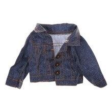 7*18*3 см джинсовая одежда зимнее пальто для куклы 18 дюймов Кукла лучший подарок для девочки Кукла Одежда Подходит