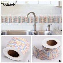 6 м самоклеящаяся ПВХ водонепроницаемая настенная бумага для украшения дома, для ванной комнаты, для облицовки стен, мозаичная плитка, наклейки, сделай сам, настенная бумага, винил