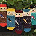 Novel Lovely Monster Spot Cotton Socks for Women Fashion Cartoon Women Socks 5 Pairs Per Lot 5 Colors Available