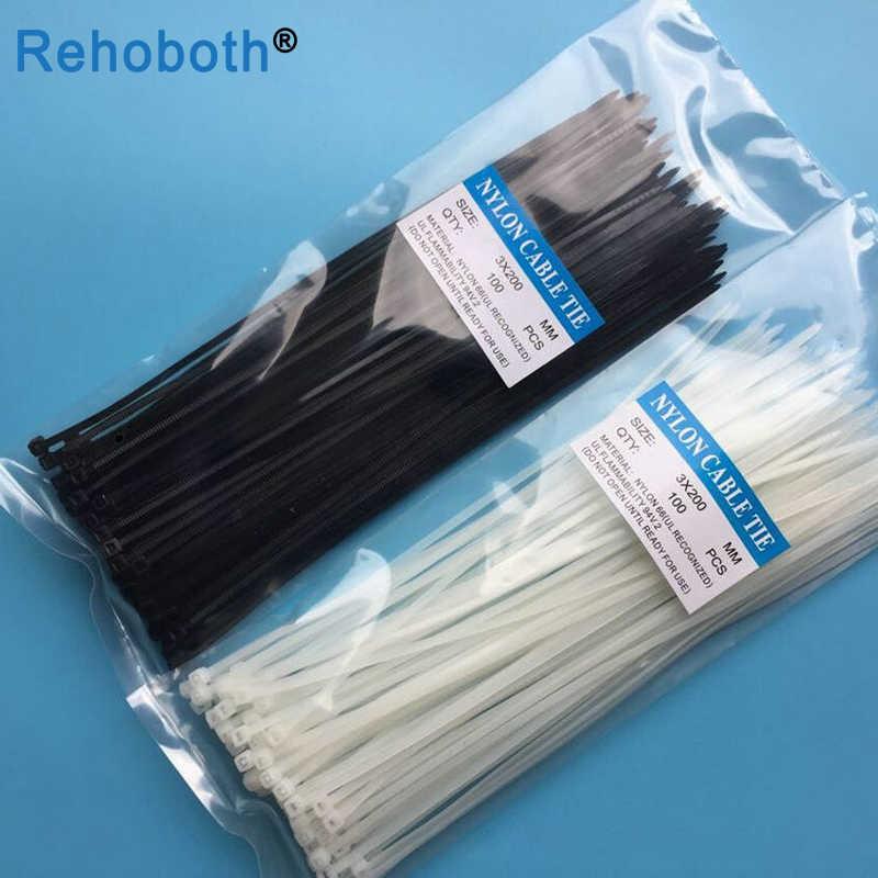 100 Uds 12 color 3*100mm auto-bloqueo Nylon Cable sleeve corbatas plástico Zip Tie colorido alambre encuadernación wrap correas UL certificada