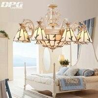 Or Couleur Teinté Verre Encastré Lampe Tiffany Lustres éclairage led lumières avec E27 110 v 220 v pour la maison