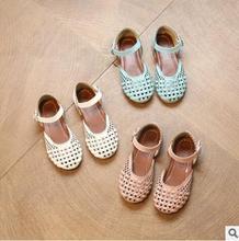 Sandálias de verão Princesa Recorte de Calçados Esportivos Criança Do Sexo Feminino Sandálias de Praia Crianças Sapatos Tênis Da Moda sapatos de Bebê de Couro Dança Performanc