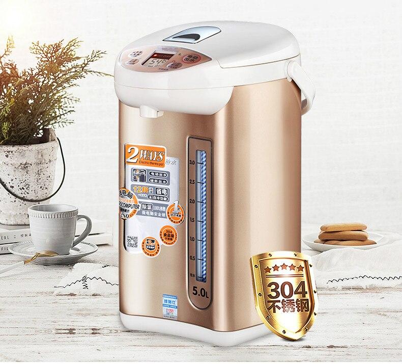 Hervidor eléctrico termo botella de agua es una integral de aislamiento hervidor de agua de acero inoxidable 304 hervidores de agua en casa
