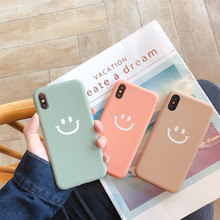 Smiley pattern  phone case For iPhone X Case Soft TPU Case For iPhone 6 6S 7 8 Plus Case Cute Thick Coque