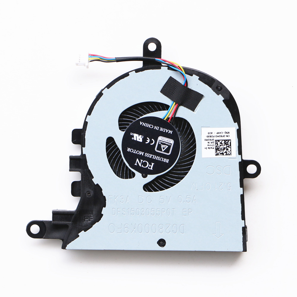 Ventilador de refrigeração da cpu do portátil para dell latitude 3590 e3590/inspiron 15-5570 15-5575 ventilador de refrigeração da cpu p75f CN-0FX0M0