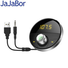 JaJaBor FM Transmitter FM Modulator Bluetooth Carkit Handsfree AUX 3.5MM Music MP3 Player Bluetooth Audio Adapter Music Receiver(China)