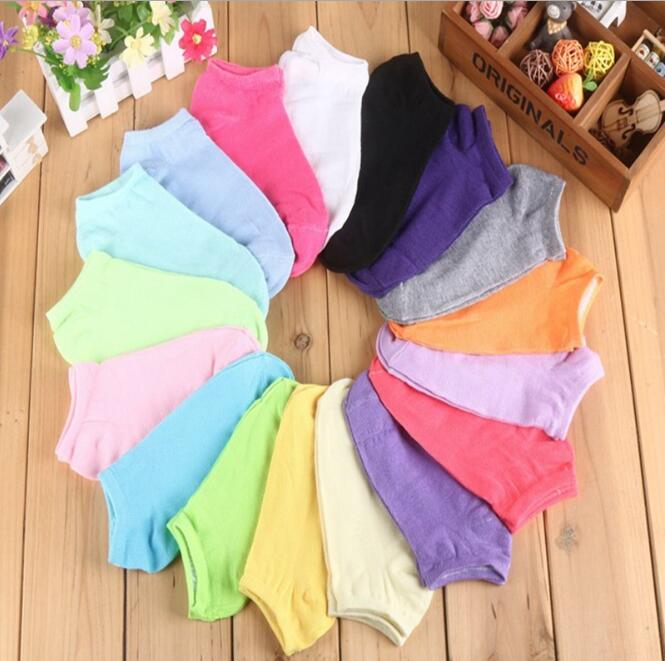 Fashion 10 Pair/lot of Womens Socks Girl Female Lady Short Cotton Socks Candy Color Ankle Sox Low Cut Boat Art Socks