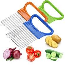 Томатный лук овощи слайсер режущий держатель для помощи руководство резак безопасная вилка* 30 hogar cocina кухонная утварь