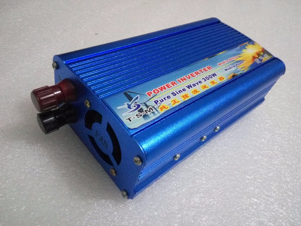 off grid rated power 300W inverter 12V DC to 110V/220V AC 50HZ/60HZ pure sine wave power inverter peak power 600W