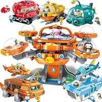 Éclairer Les idées de créateurs ville Les pieuvre poulpe Octonauts dessin animé blocs de construction modèles ensembles enfants kits jouet Compatible Duplo
