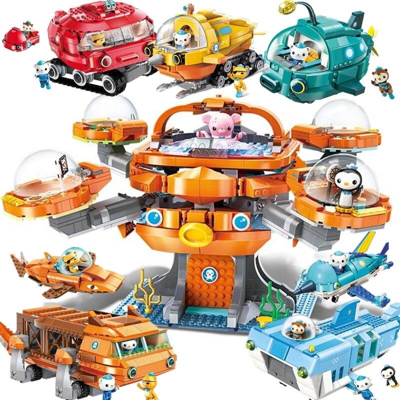 ERLEUCHTEN Creator Ideen Stadt Les Octopus Octopod Octonauts Cartoon Bausteine Modell Sets Kinder Spielzeug Kompatibel Legoings Duplo