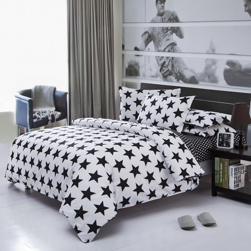 Bytový textil, reaktivní potisk 4ks ložní soupravy luxusní včetně přikrývky Povlečení Povlak na polštář, ložní prádlo velikosti Queen s manželskou postelí velikosti Queen