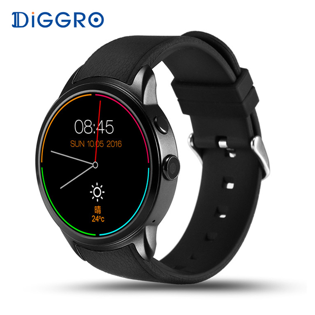 Diggro DI01 16 ГБ + 1 ГБ Смарт-часы Android5.1 монитор сердечного ритма IP67 водонепроницаемый поддержка 3 г WiFi GPS Нано-SIM-карты MT6580