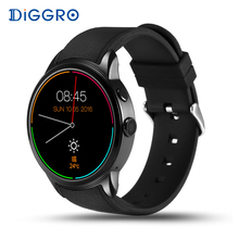 Diggro DI01 Montre Smart Watch 1 GB/16G Android 5.1 Moniteur de Fréquence Cardiaque IP67 Soutien 3G WIFI GPS SIM carte MTK6580 Smartwatch Android IOS
