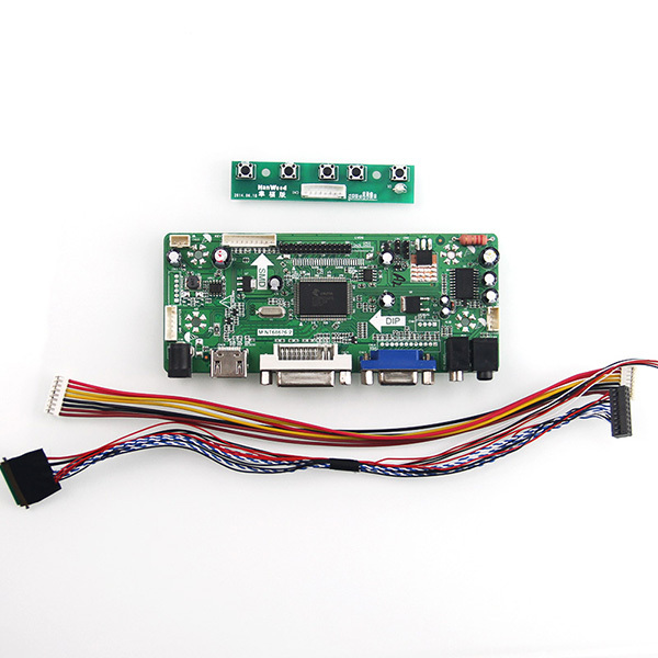 M. NT68676 LCD/LED Placa de Driver de Controlador (HDMI + VGA + DVI + Audio) Para LP156WH2-TLQB LTN156AT05 1366*768