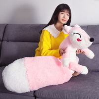 160cm Cute pink fox plush toys sleep pillow stuffed cushion fox doll birthday gift for Children Animal Stuffed Toy