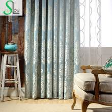 Sicily High grade Precision Jacquard Curtain Fabric Mediterranean Style Floral Curtains Embroidered Sheer For Living Room(China)
