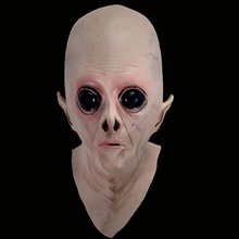 328cosplay costume party mask UFO alien mask latex fuuny perfromence free size free shipping halloween ufo mask creepy latex ufo alien head mask for adults masquerade costume party cosplay