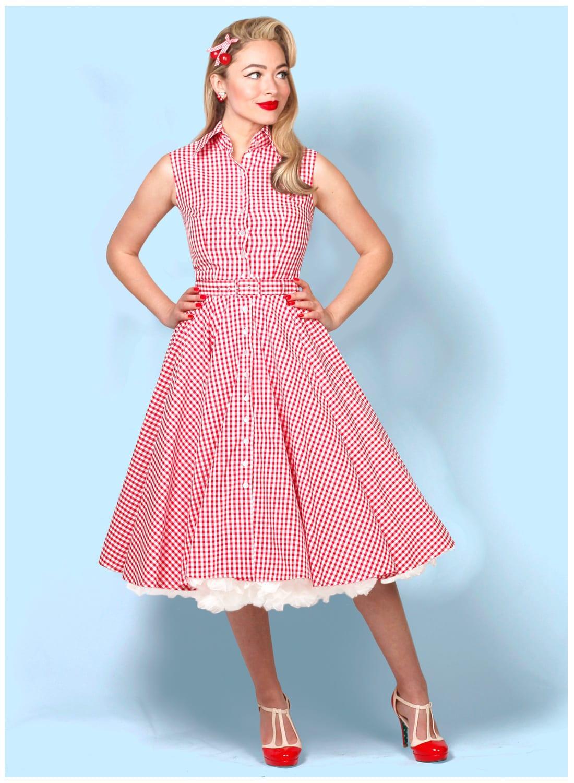 Vintage 50/'s Girl/'s Gingham Dress