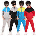 Free Shipping 2016 New Fashion Boys Sportsuit Spring Clothing Set Children Hoodies Sweatshirt + Pants 2pc Baby Kids Clothes Sets