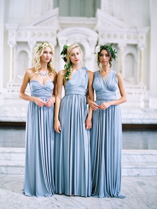 Winter Ice Blue Bridesmaid Dresses - Wedding Dress Ideas