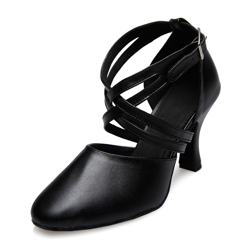 Chaussures de sport Latin danse femme Samb avec adulte femmes chaussures en cuir baskets carré danse chaussures modernes fond souple femmes chaussures