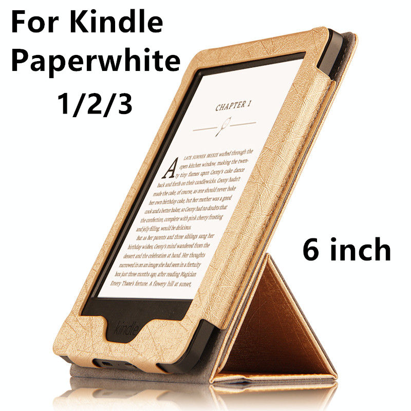 Case For Kindle Paperwhite PU Protective eBook Reader Smart Cover Protector leather For Amazon Kindle Paperwhite 3 2 Sleeve 6'' hand support function protective leather case for amazon kindle paperwhite brown