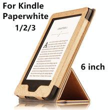 """Case para kindle paperwhite ebook reader protector elegante de la cubierta protectora de la pu de cuero para amazon kindle paperwhite 3 2 manga 6"""""""