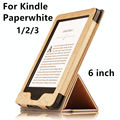 Case para kindle paperwhite ebook reader smart cover protector de couro protetora pu para amazon kindle paperwhite 3 2 manga 6''
