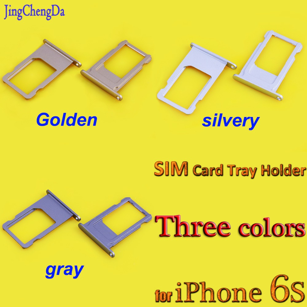 High quality SIM Card Tray Holder Slot Replacement Adapter for iPhone 6S 6 S 4.7 inch iPhone6S Repair Parts Gold/Silver/Gray
