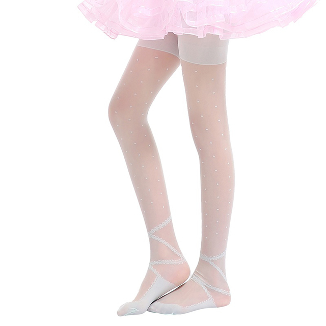b2b23e211 Kids Girls Stockings Ballet Dance Stocking Baby Girl Tights Silk Cute Dot  Print Children Girls Tights Pantyhose