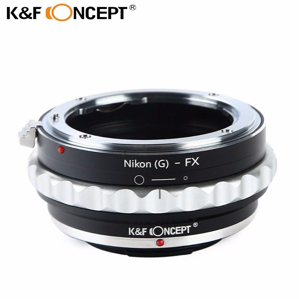 Prix pour K & f concept camera lens adapter ring pour nikon g monture pour fujifilm fuji fx x-pro1 x-a1 x-m1 x-e1 adaptateur livraison gratuite