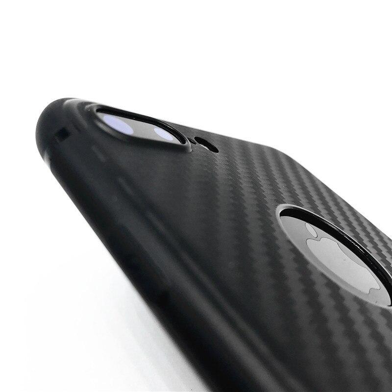Kry 3d carbon fiber soft case cajas del teléfono para iphone 6 6 s más case 7 má