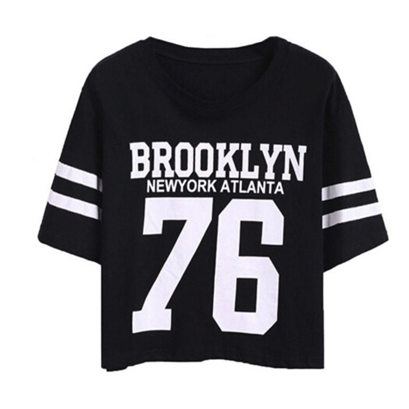 Buy 2017 summer new fashion crop top t for T shirt printing brooklyn