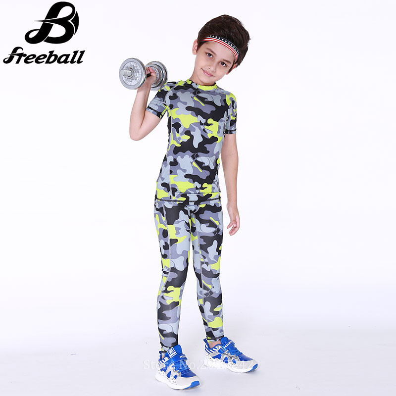 15f4d1f4ef37e Kids Boys compression running pants shirts sets jerseys survetement football  child soccer training skinny tights yoga leggings-in Running Sets from  Sports ...