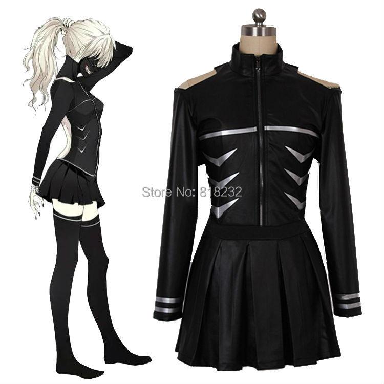 Tokyo ghouls Kaneki Ken Fight Uniform Dress Outfit Anime Cosplay Costumes Tops Skirt Socks