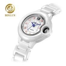BINLUN Top Design Ballon Bleu De Ladies Elegant Quartz Watch Luxury Dinner Brace