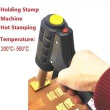 Handvat Elektrische Ijzer cake mark hot Foil Stempel druk embossing machine Afdrukken logo Branding elektrische soldeerbout 500W 220V