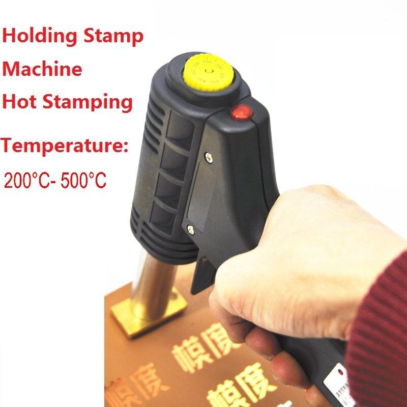 Poignée électrique fer gâteau marque chaude feuille timbre presse gaufrage machine impression logo marquage électrique fer à souder 500W 220V