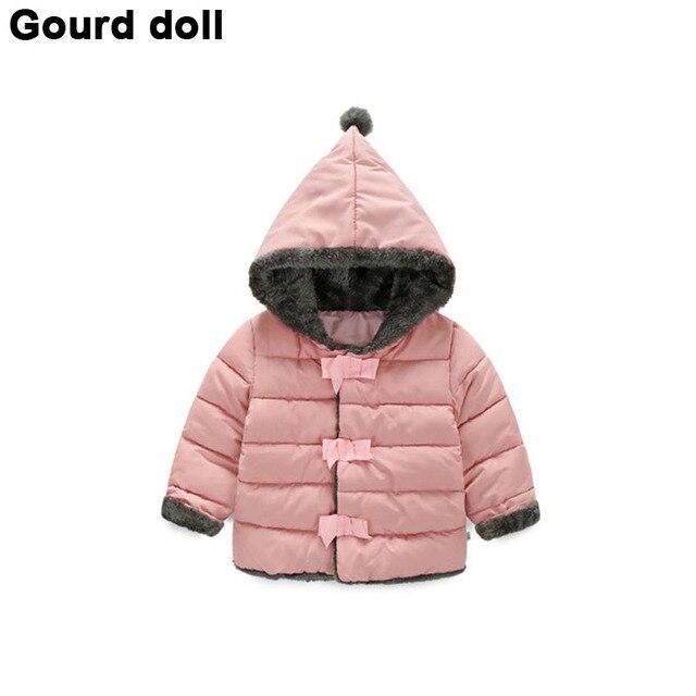 aecfeb6508cf Высокое качество Новорожденных девочек зимней одежды дети куртки верхняя  одежда ...