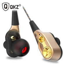 QKZ CK8 Dual Driver Earphones Stereo Bass Sport Running Headset HIFI Monitor Earbuds Handsfree With Mic fone de ouvido все цены