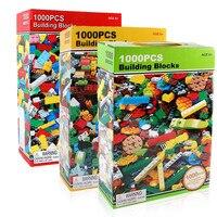 1000 개 벽돌 디자이너 창조적 인 클래식 벽돌 DIY 빌딩 블록 교육 장난감