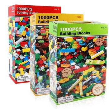 1000 pcs Briques Creative Designer Classique Brique BRICOLAGE Blocs de Construction Jouets Éducatifs En Vrac Pour Les Enfants Cadeau Compatible Lego