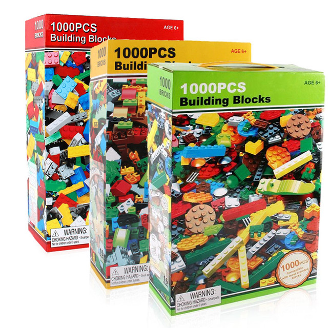 1000pcs Bricks Designer Creative Classic Brick DIY Building Blocks  Educational Toys Bulk For Children Gift Compatible Lego