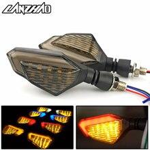 Пара мотоцикл светодиодный лампы сигнала поворота левый и правый сигналы Габаритные огни Индикаторы шоры универсальный для Honda Kawasaki