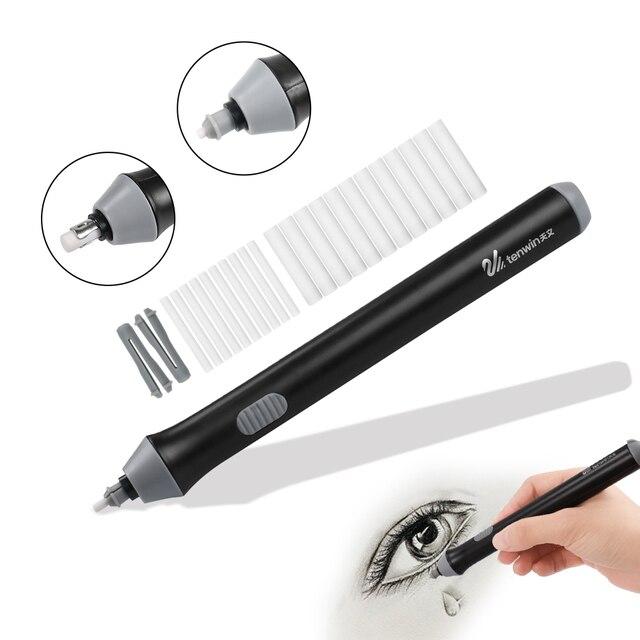 Регулируемый Электрический набор ластиков для карандашей с батарейным питанием подчеркивает стирающие эффекты для эскиза с 22 резиновыми з...